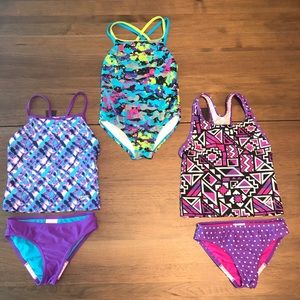 3 Girls/Kids Speedo Bathing Suits Size 8 🏊‍♀️